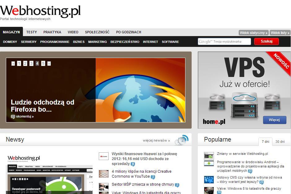 strona główna Webhosting
