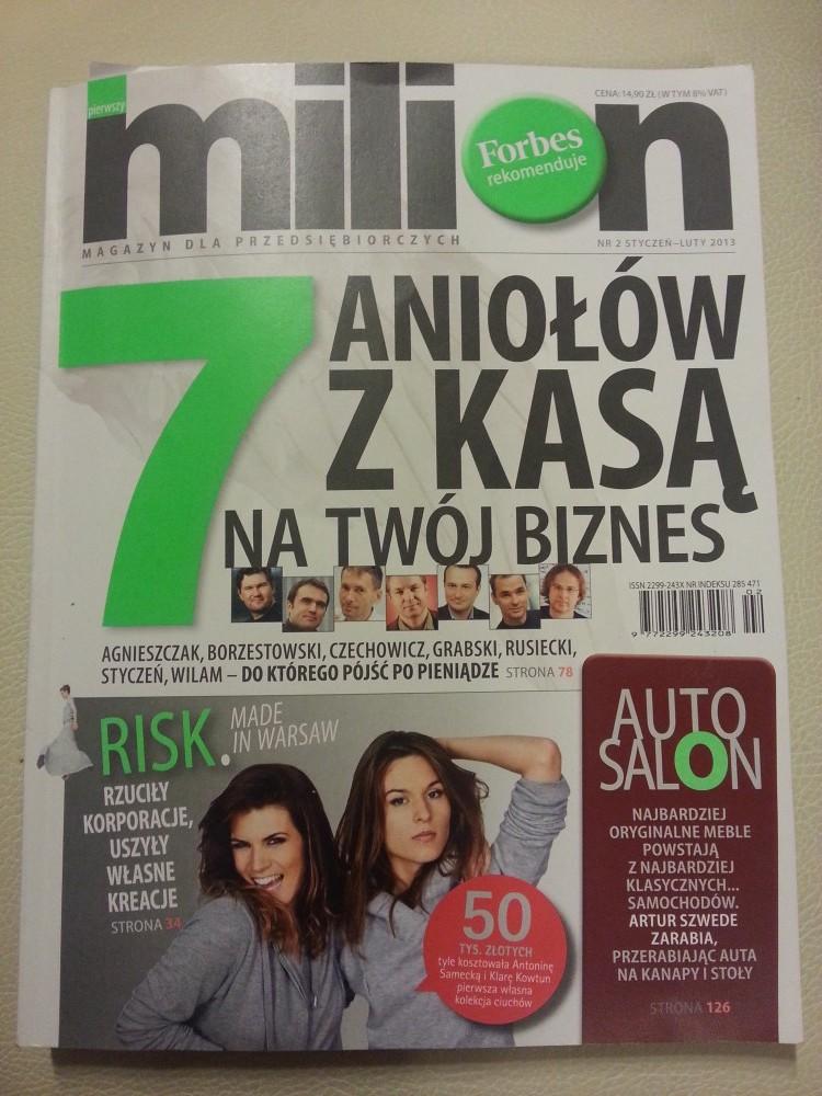 """Okładka magazyny """"pierwszy milion"""""""