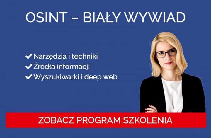 OSINT - Biały wywiad - Szkolenie